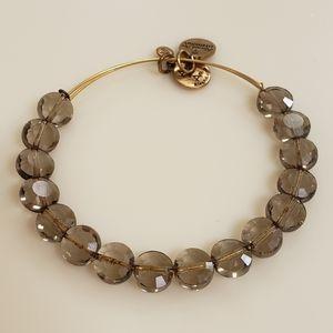 Alex and Ani Smoke Luxe Bead Bangle Bracelet